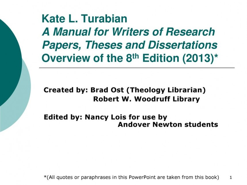 018 Manual For Writers Of Research Papers Theses And Dissertations 8th Edition Katel Staggering A Pdf