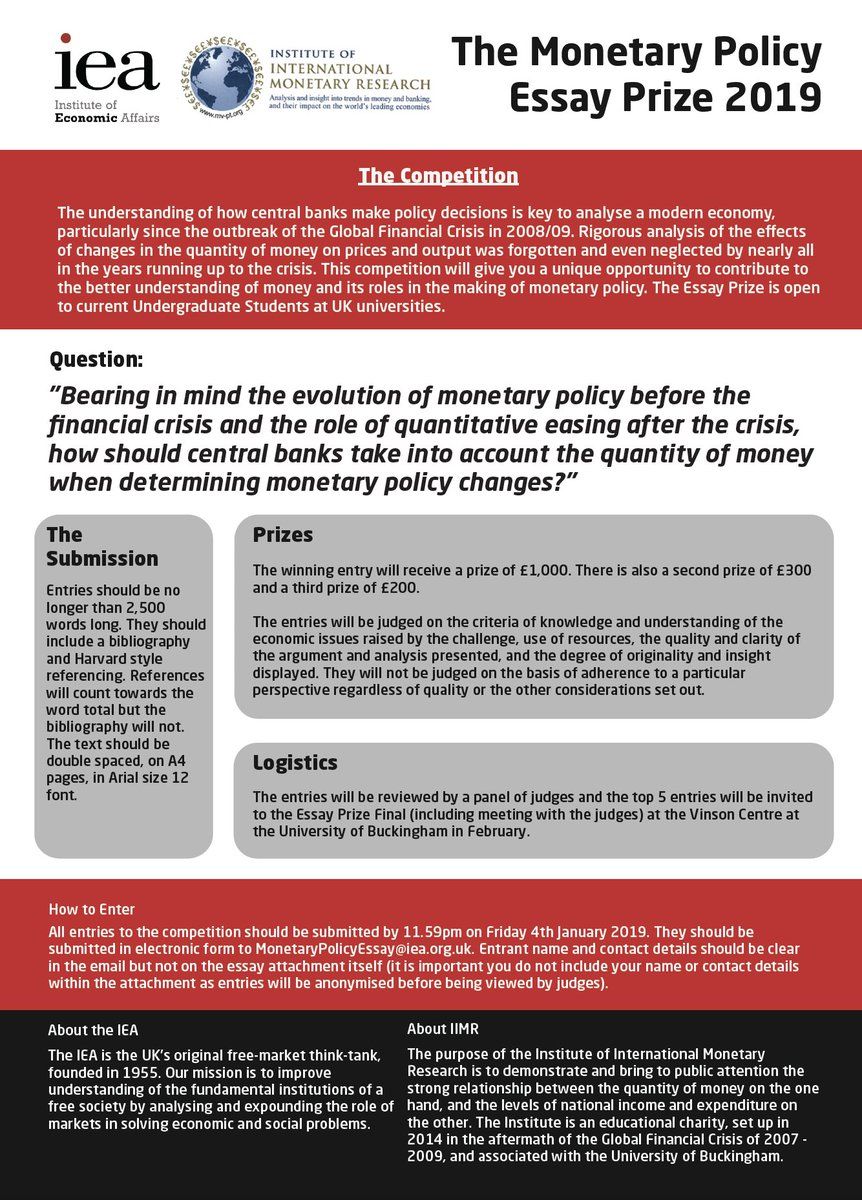 018 Monetary Policy Essay Iea On Twitter Topics Plan Research Paper Questions20 Easy Impressive Economic Full