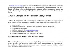 018 Page 1 Outline Of Research Staggering Paper Ppt For Powerpoint