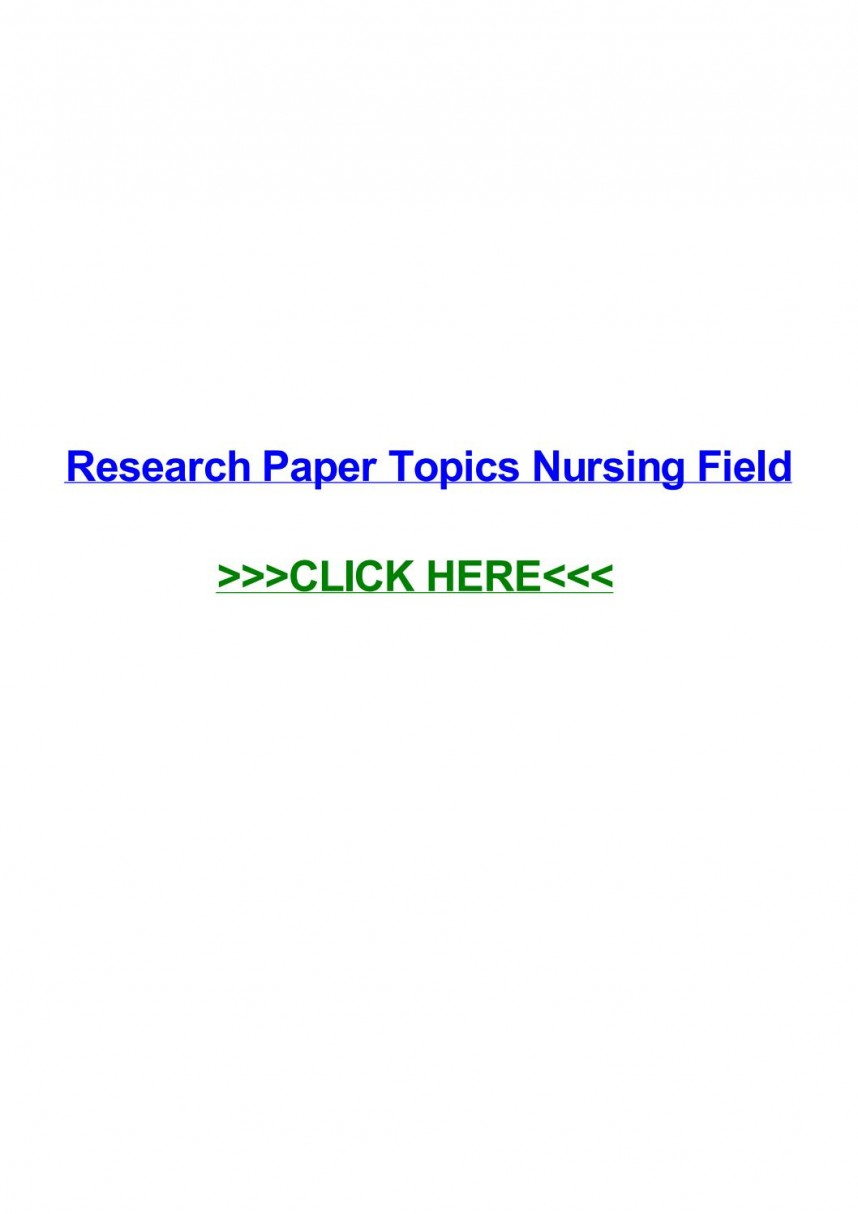 018 Page 1 Research Paper Topics Unforgettable Nursing Ideas For Students Pediatric
