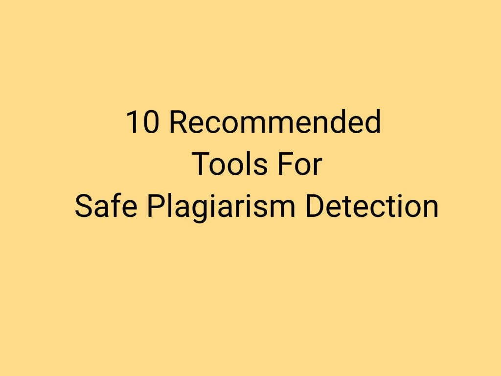 018 Plagiarism Detection Software Research Paper Best Amazing Writing Large