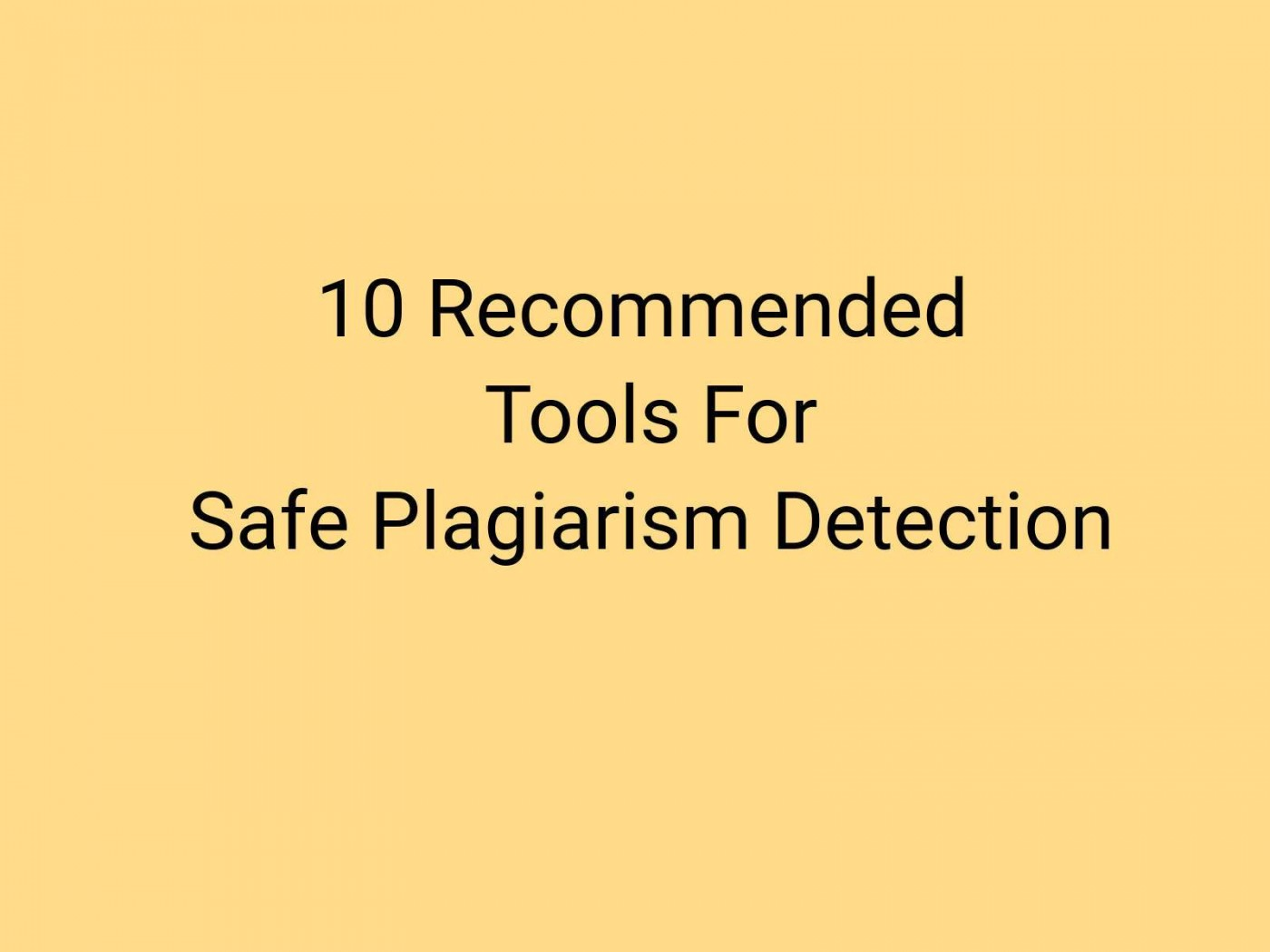 018 Plagiarism Detection Software Research Paper Best Amazing Writing 1400