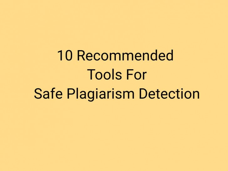 018 Plagiarism Detection Software Research Paper Best Amazing Writing 728