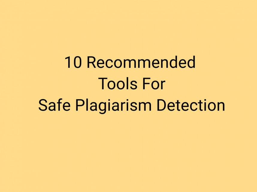 018 Plagiarism Detection Software Research Paper Best Amazing Writing 868
