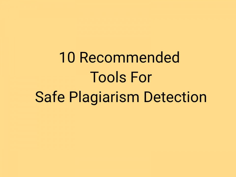 018 Plagiarism Detection Software Research Paper Best Amazing Writing 960