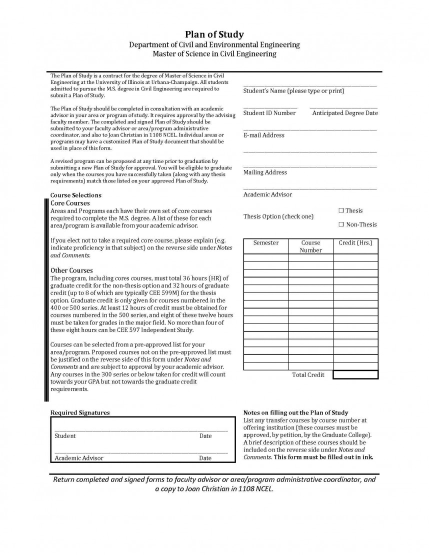 018 Plan Of Study Research Paper Awesome Form Format Apa Scientific Example 868