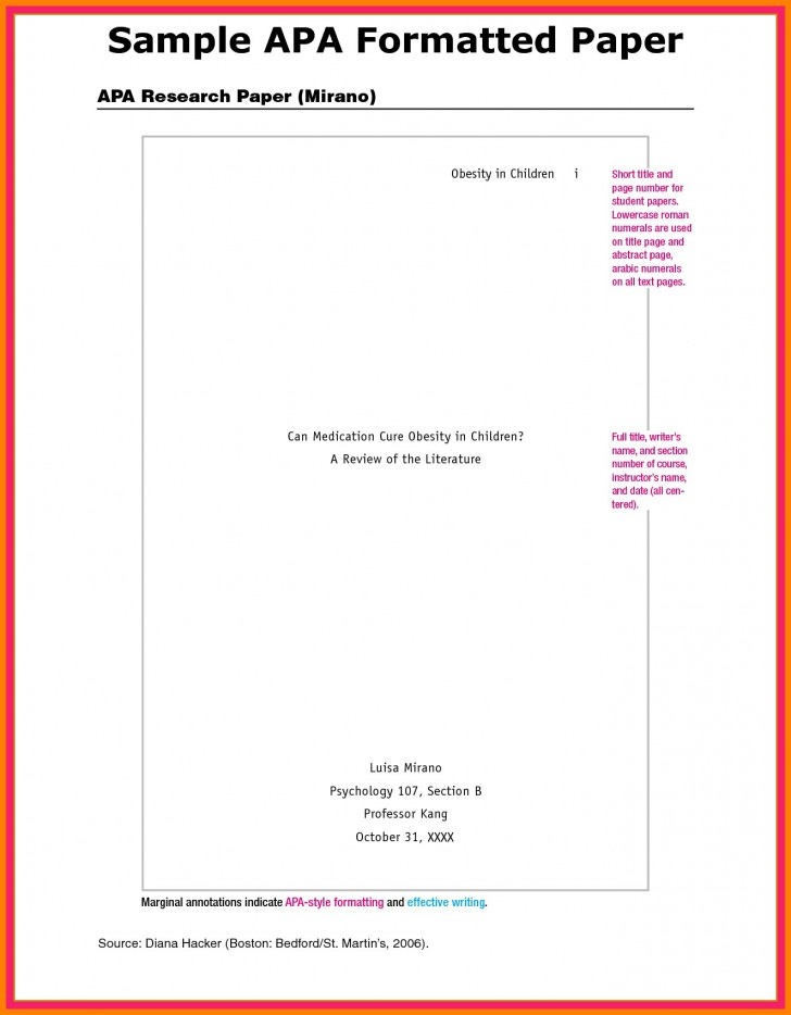 018 Research Paper Apa Format For Appendix Example Imposing Title Page References 728