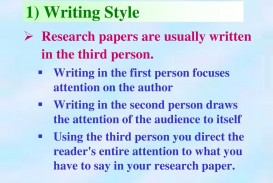 018 Research Paper Are Papers Written In First Person 129writingstyleresearchpapersareusuallywritteninthethirdperson Impressive Proposals