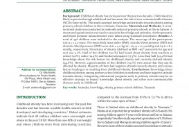 018 Research Paper Childhood Obesity Topics Awesome About