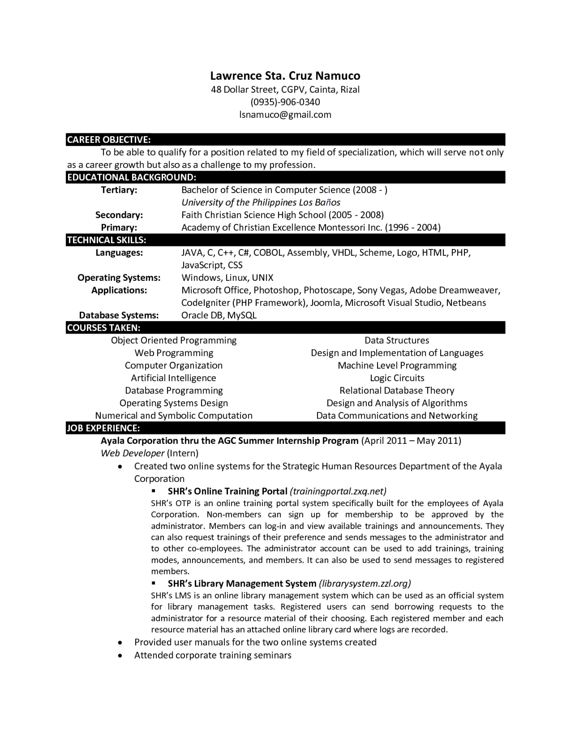 018 Research Paper Computer Science Papers Pdf Free Download Cs Resume Template Marvelous Decoration Remarkable 1920