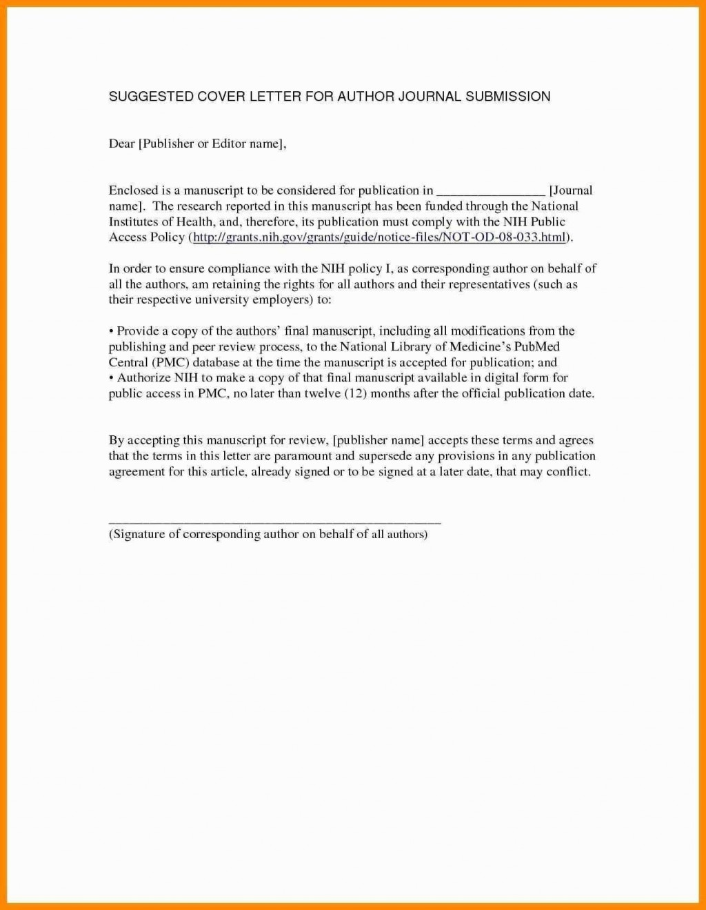 018 Research Paper Cover Letter Example Article Submission Valid For Journal Manuscript Of Singular Publication Model Large