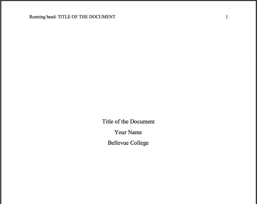 018 Research Paper Cover Page For Apa Style Title Dreaded Of Term Format Full