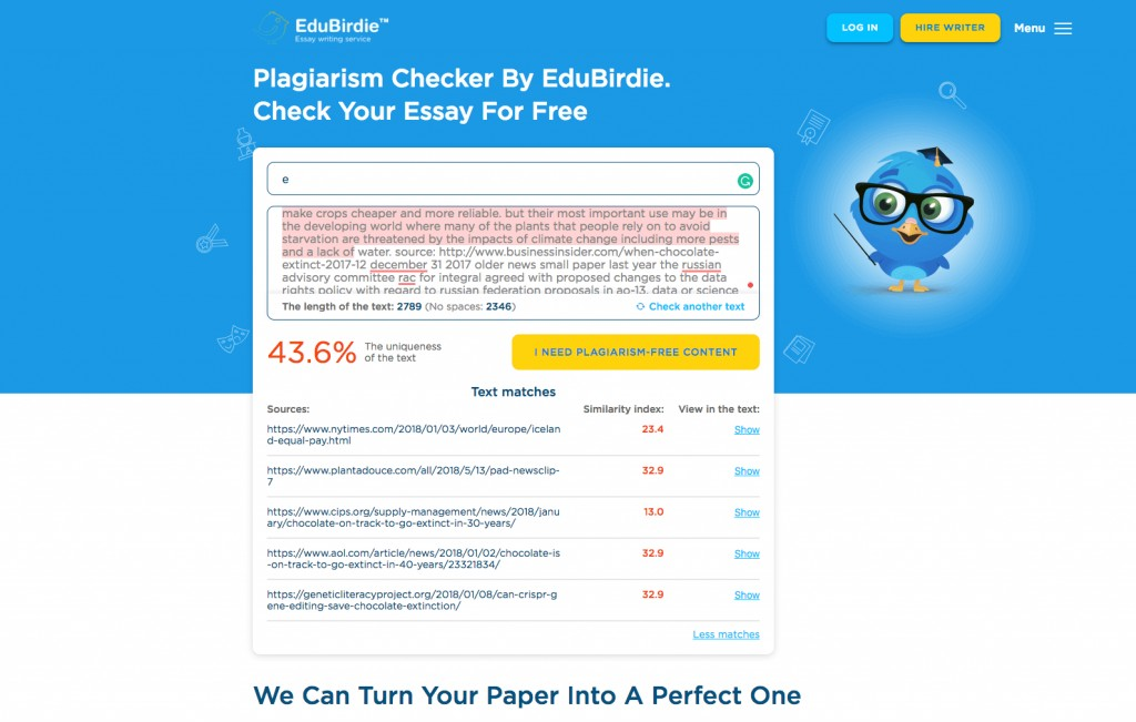 018 Research Paper Edubirdie Online Plagiarism Checker For Papers Stunning Free Students Grammarly With Percentage Large