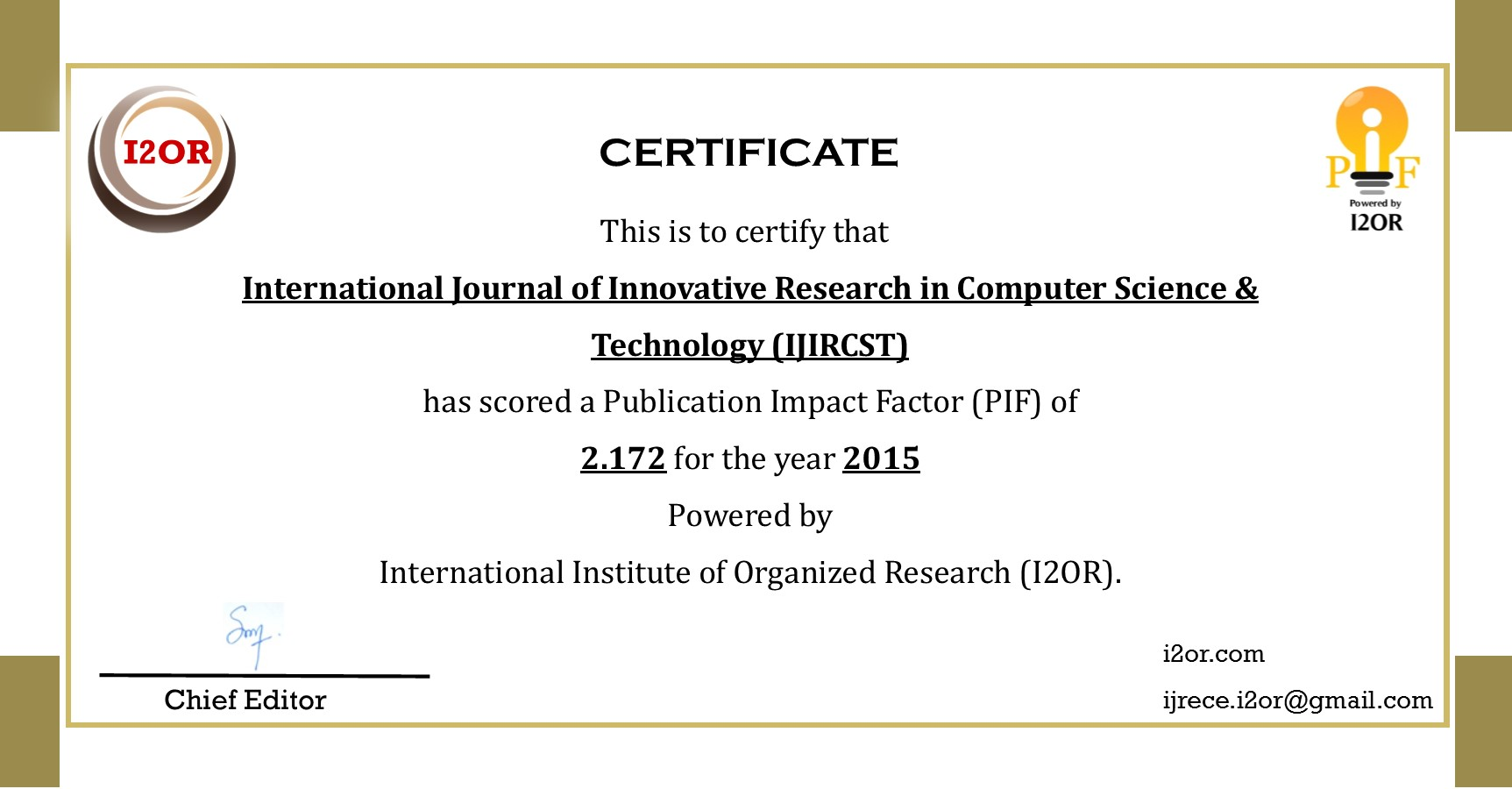 018 Research Paper Ijircst Impactfactor How To Publish In Computer Fearsome A Science Full
