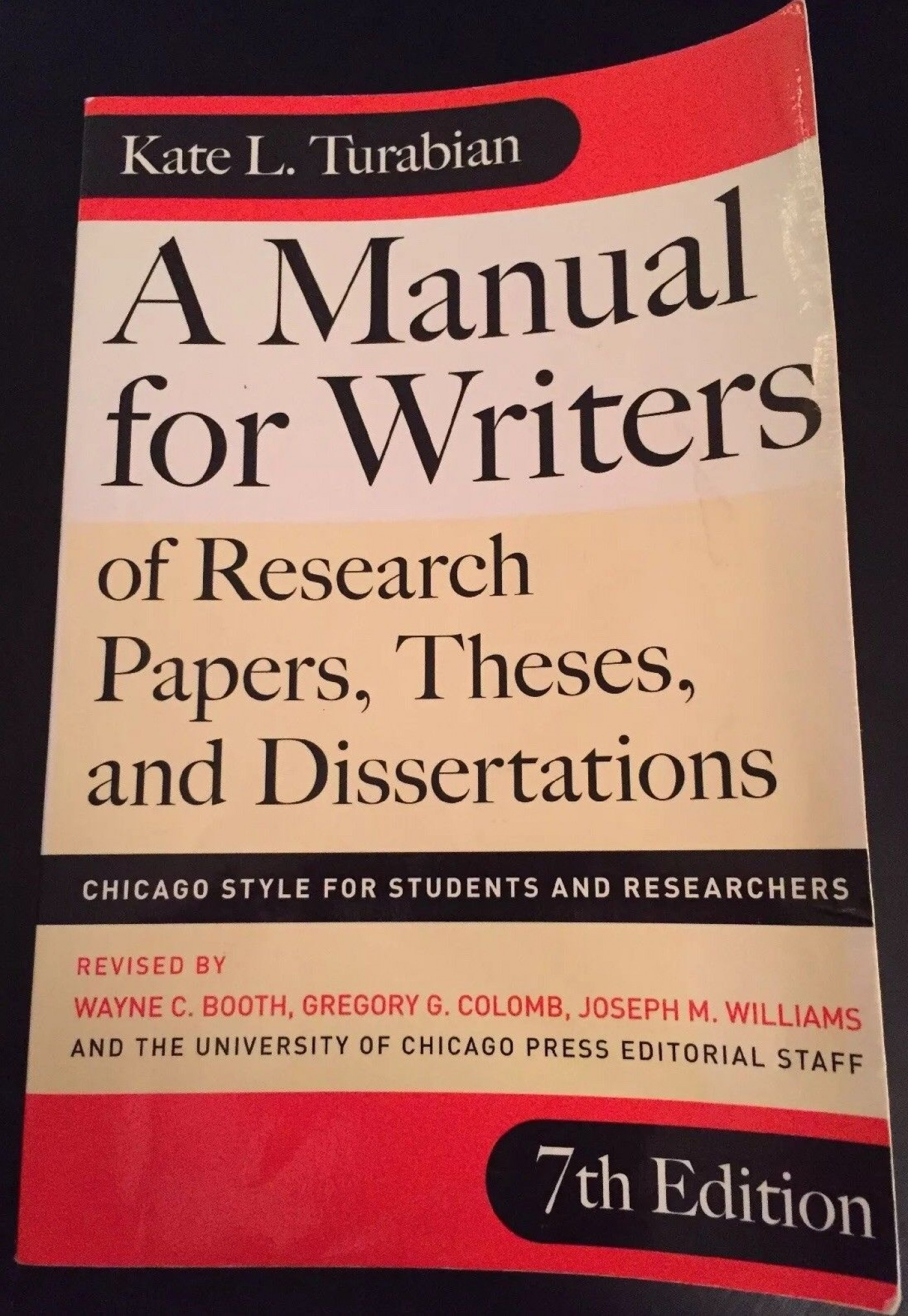 018 Research Paper Manual For Writers Of Papers Theses And Dissertations S Magnificent A Amazon 9th Edition 8th 13 1400