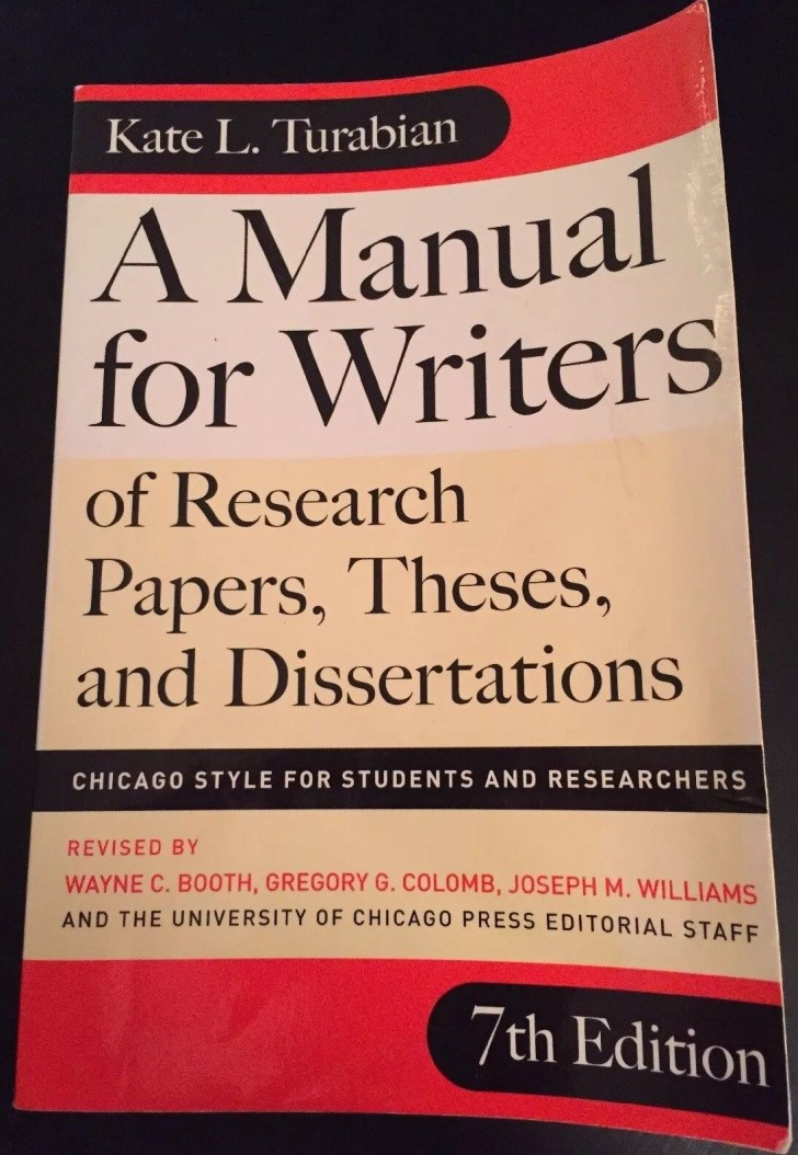 018 Research Paper Manual For Writers Of Papers Theses And Dissertations S Magnificent A Amazon 9th Edition 8th 13 728