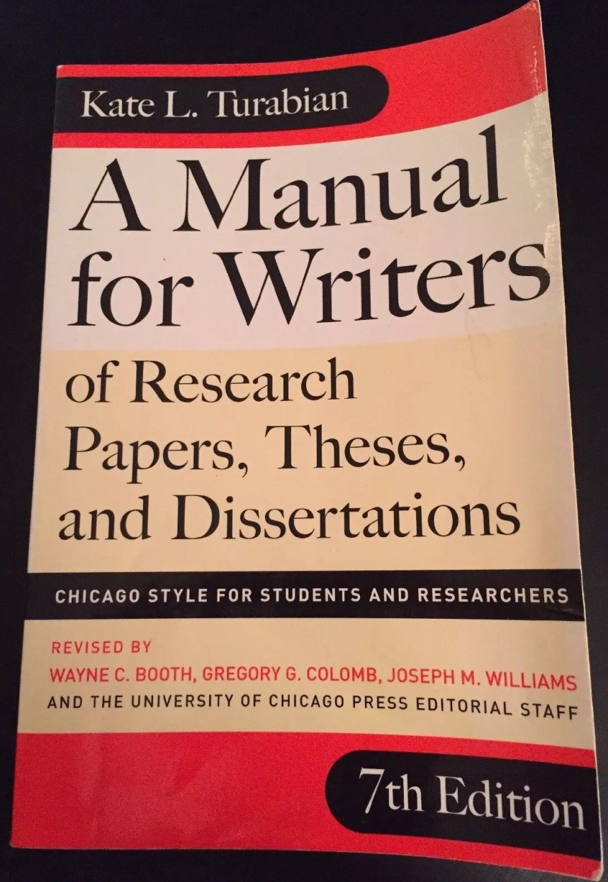 018 Research Paper Manual For Writers Of Papers Theses And Dissertations S Magnificent A Amazon 9th Edition 8th 13 868