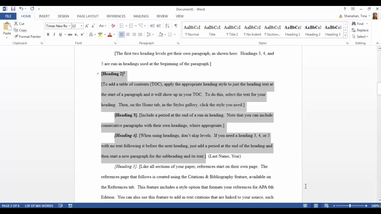 Google Docs Instructions For Formatting An Academic Paper