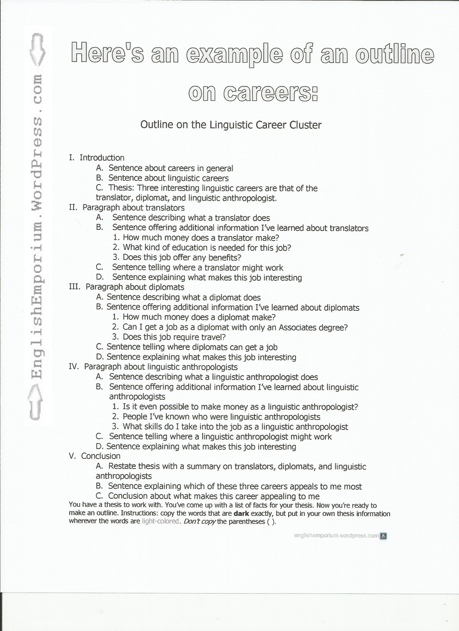 018 Research Paper Outline Of On Careers Pg Dreaded A Introduction Apa Style 1920