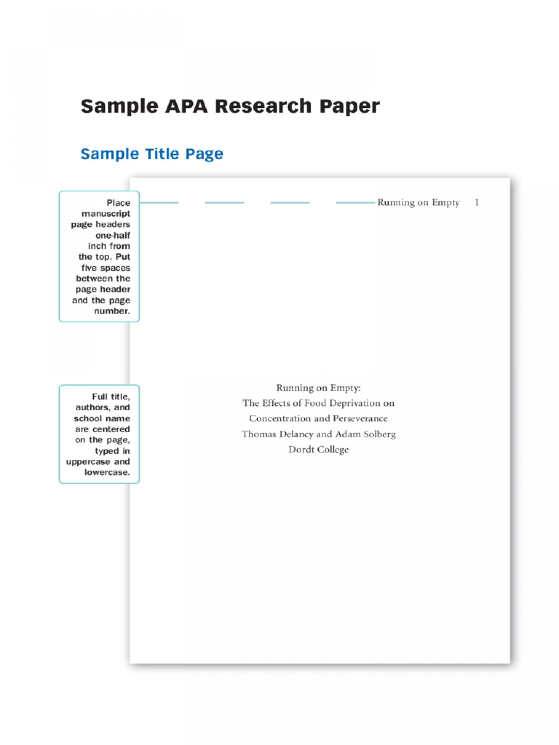 018 Research Paper Sample Apa Papers Staggering Example Outline Style 1920