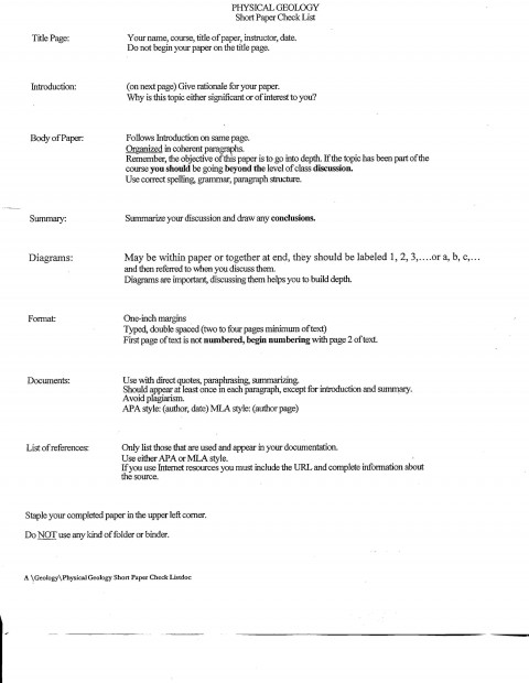 018 Short Checklist How To Do Research Top A Paper On Person Book Make Title Page 480