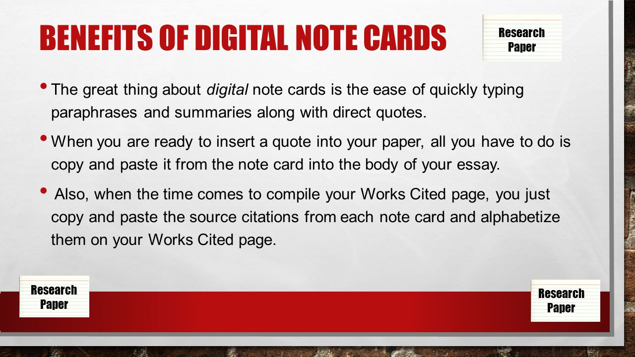 018 Slide 3 Note Cards Template For Research Astounding Paper Example Of Notecards Full