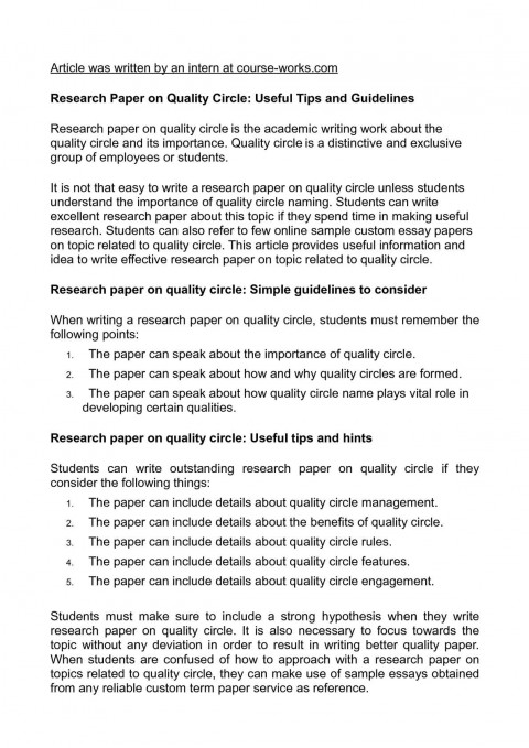 018 Tips For Writing Research Papers Paper Unforgettable A History Fast Quickly 480