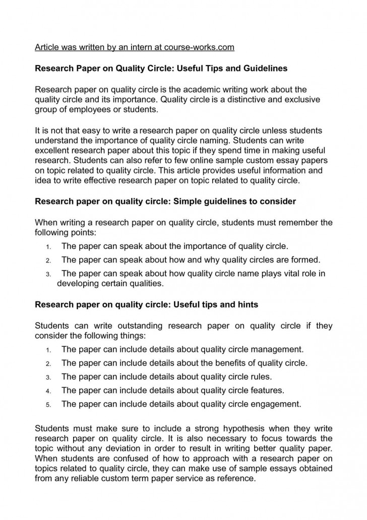 018 Tips For Writing Research Papers Paper Unforgettable A History Fast Quickly 728