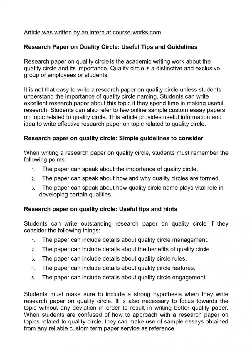 018 Tips For Writing Research Papers Paper Unforgettable A History Fast Quickly 868