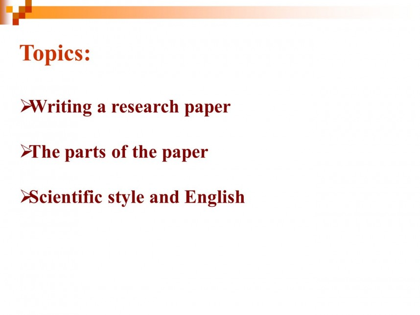 018 Topics20writing20a20research20paper20the20parts20of20the20paper Research Paper Best Topics Unbelievable 2018