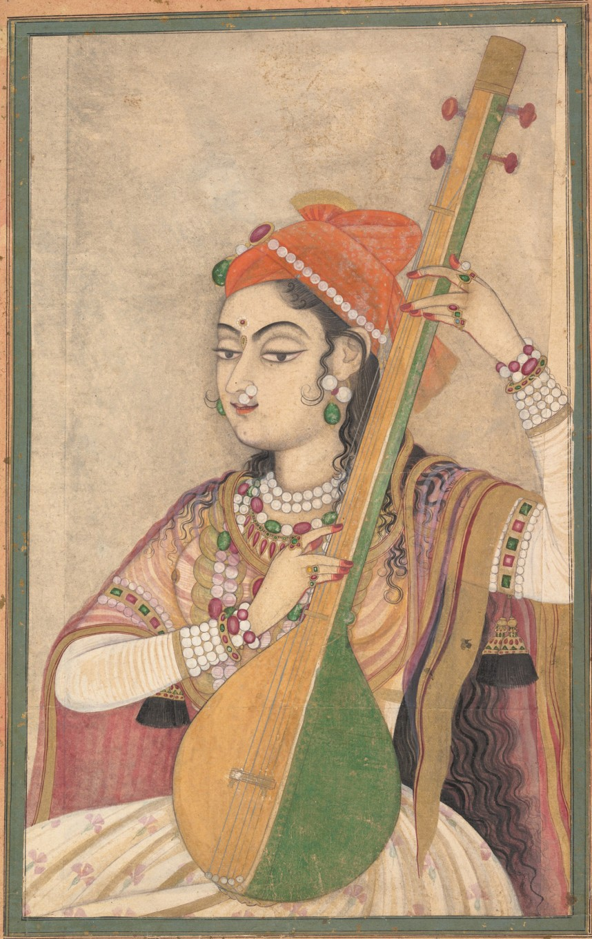 019 A Lady Playing The Tanpura2c Ca  1735 Research Paper Music History Archaicawful Ideas