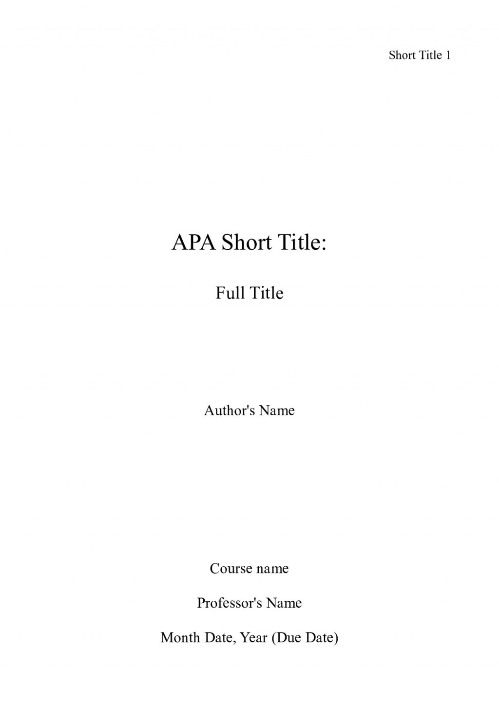 019 Apa Title Page Sample Cover For Research Paper Mla Fearsome Format First Large