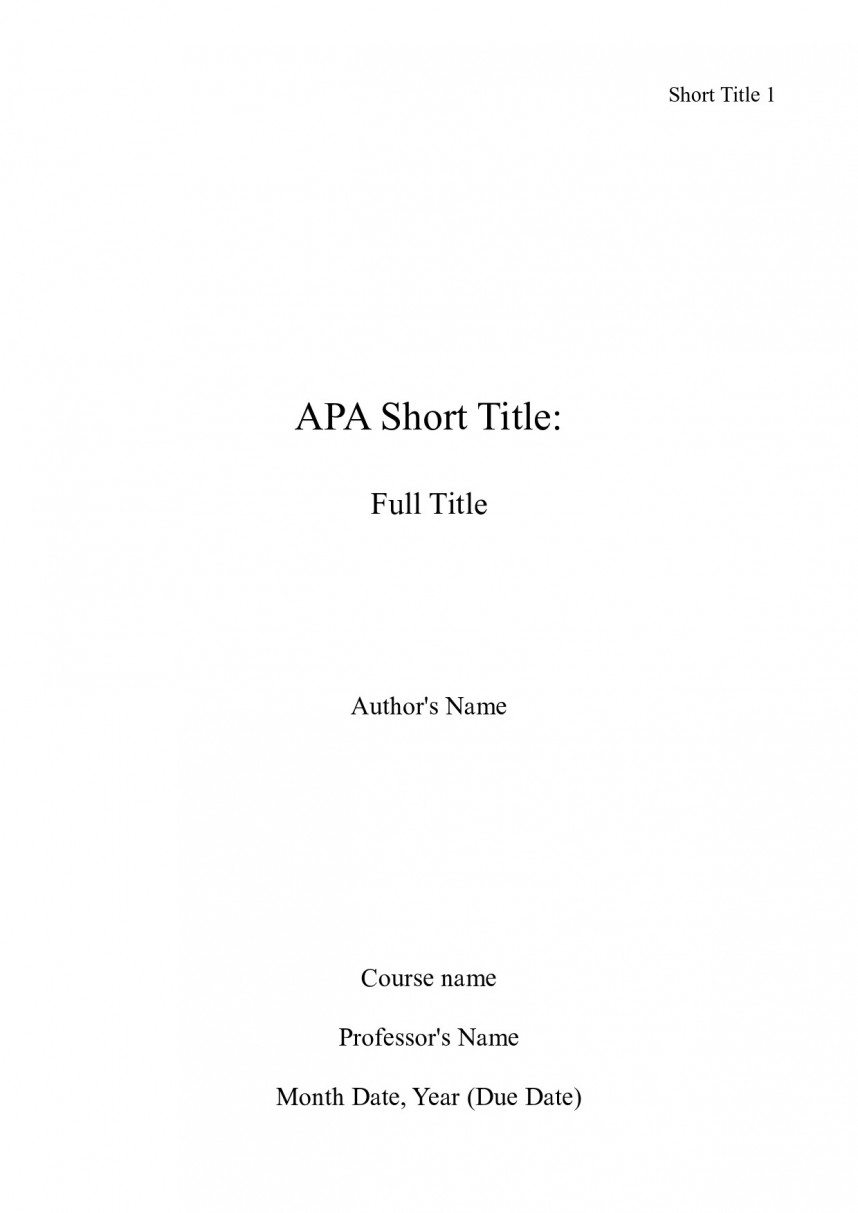 019 Apa Title Page Sample Cover For Research Paper Mla Fearsome Format First