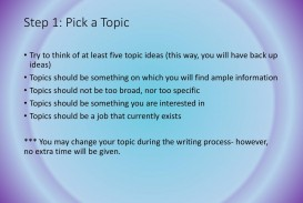 019 Career Related Research Paper Topics Singular