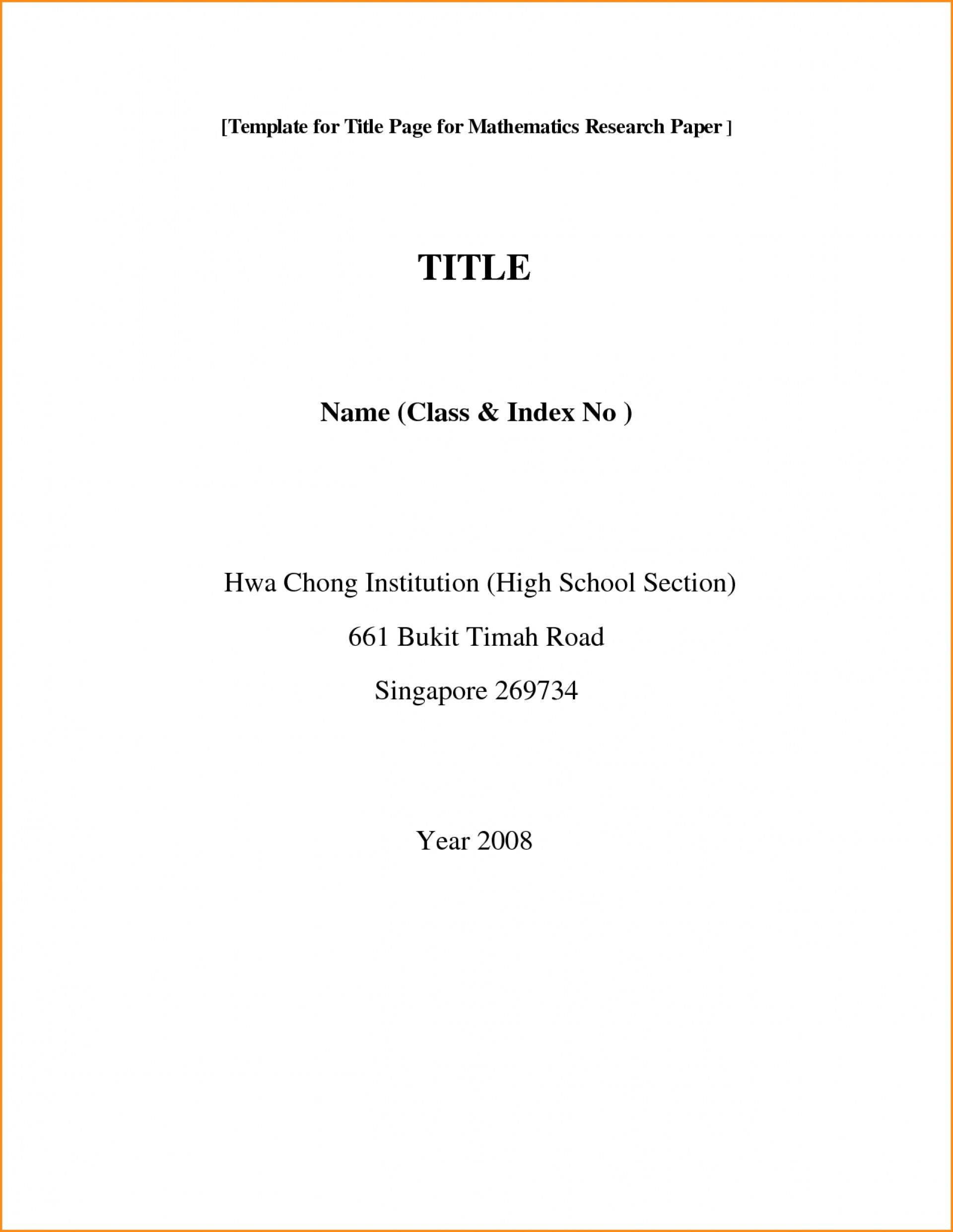019 Collection Of Solutions Front Page Research Paper Format Simple Apa For Title Unusual Template Doc Google Docs 1920