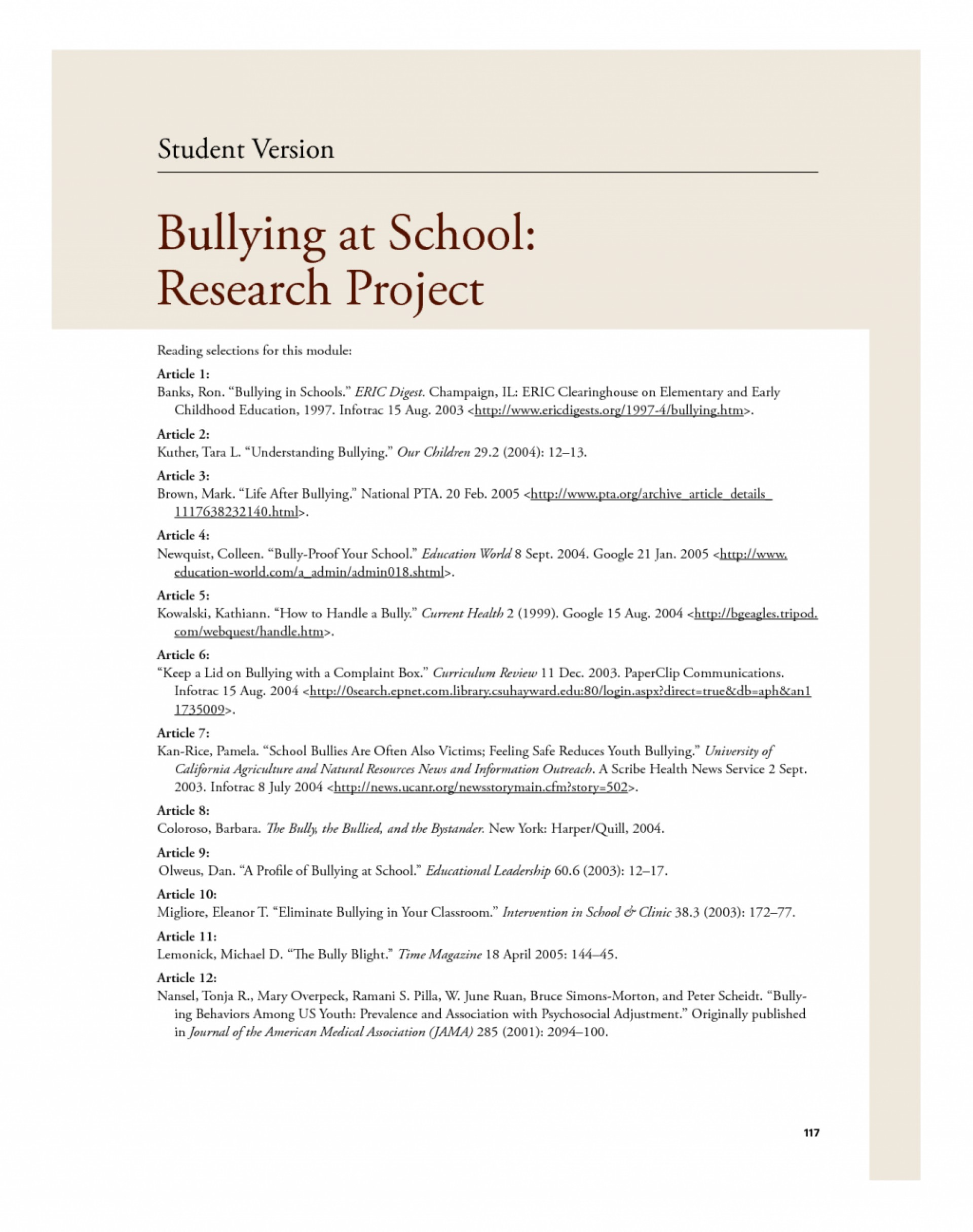 019 Conclusion Bullying Research Paper Violence In20hools Essay Causes20hool Topics Jamaican20 Dreaded 1920