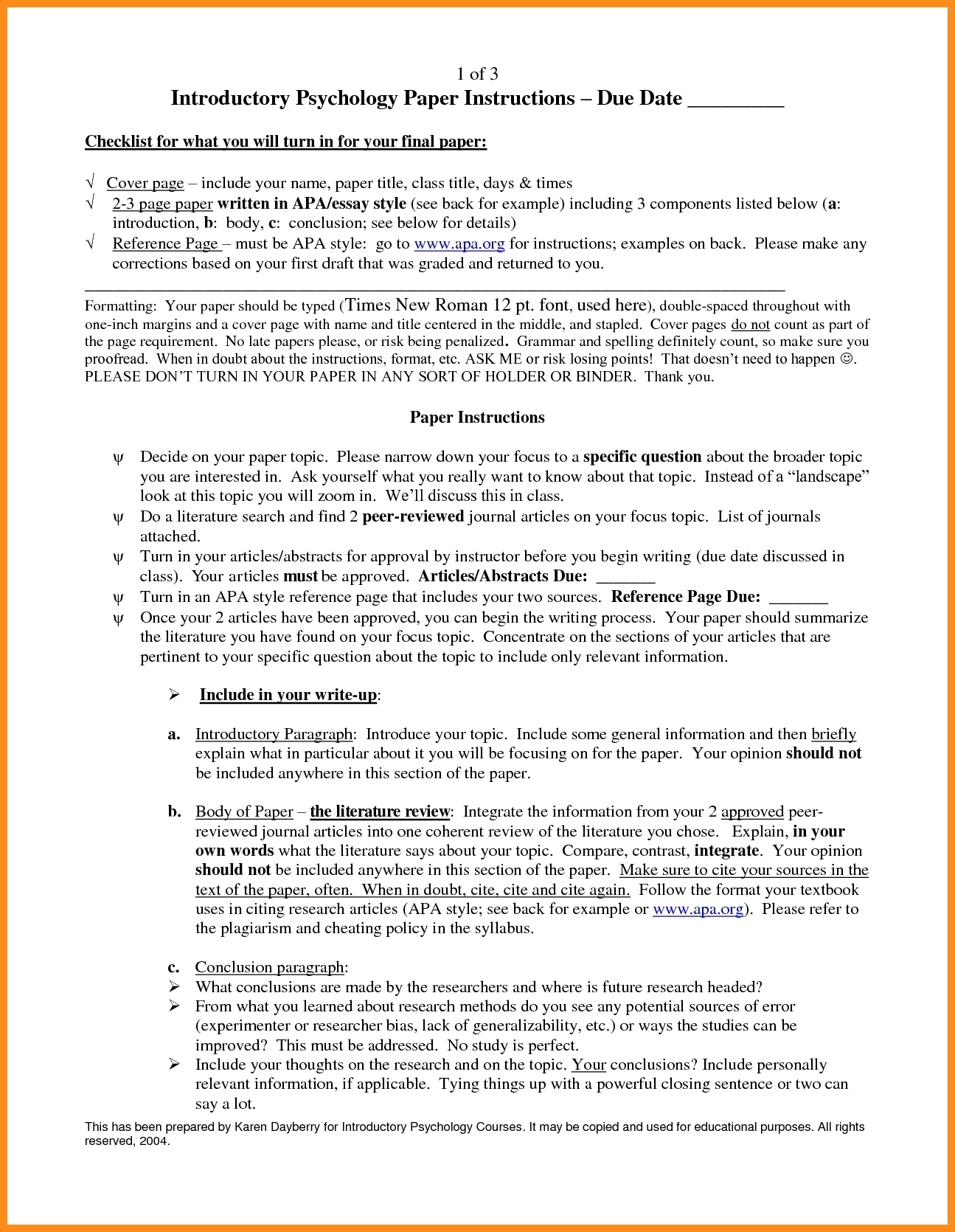 research paper paragraph format