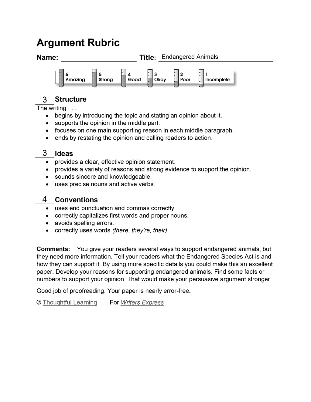 019 Endangered Rubric20copy Research Paper Persuasive Topics About Beautiful Animals Full