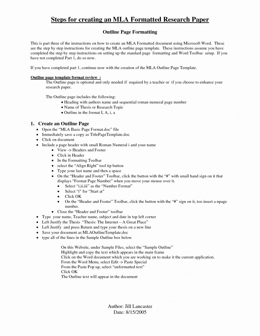 019 Example Of An Outline For Research Paper Mla Format Papers Elegant College Essays Money Response Sensational A Full Sentence Term