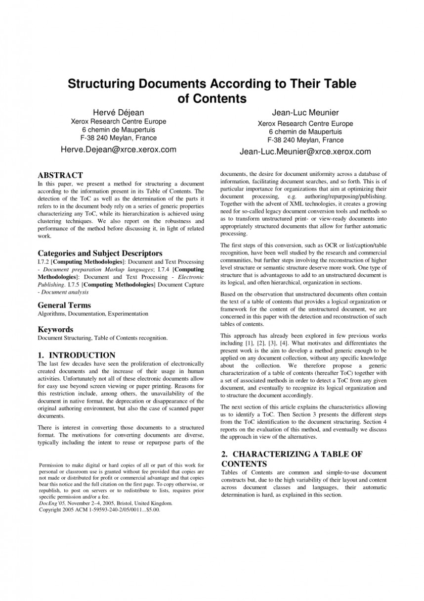 019 How To Make Table Of Contents In Research Paper Exceptional A