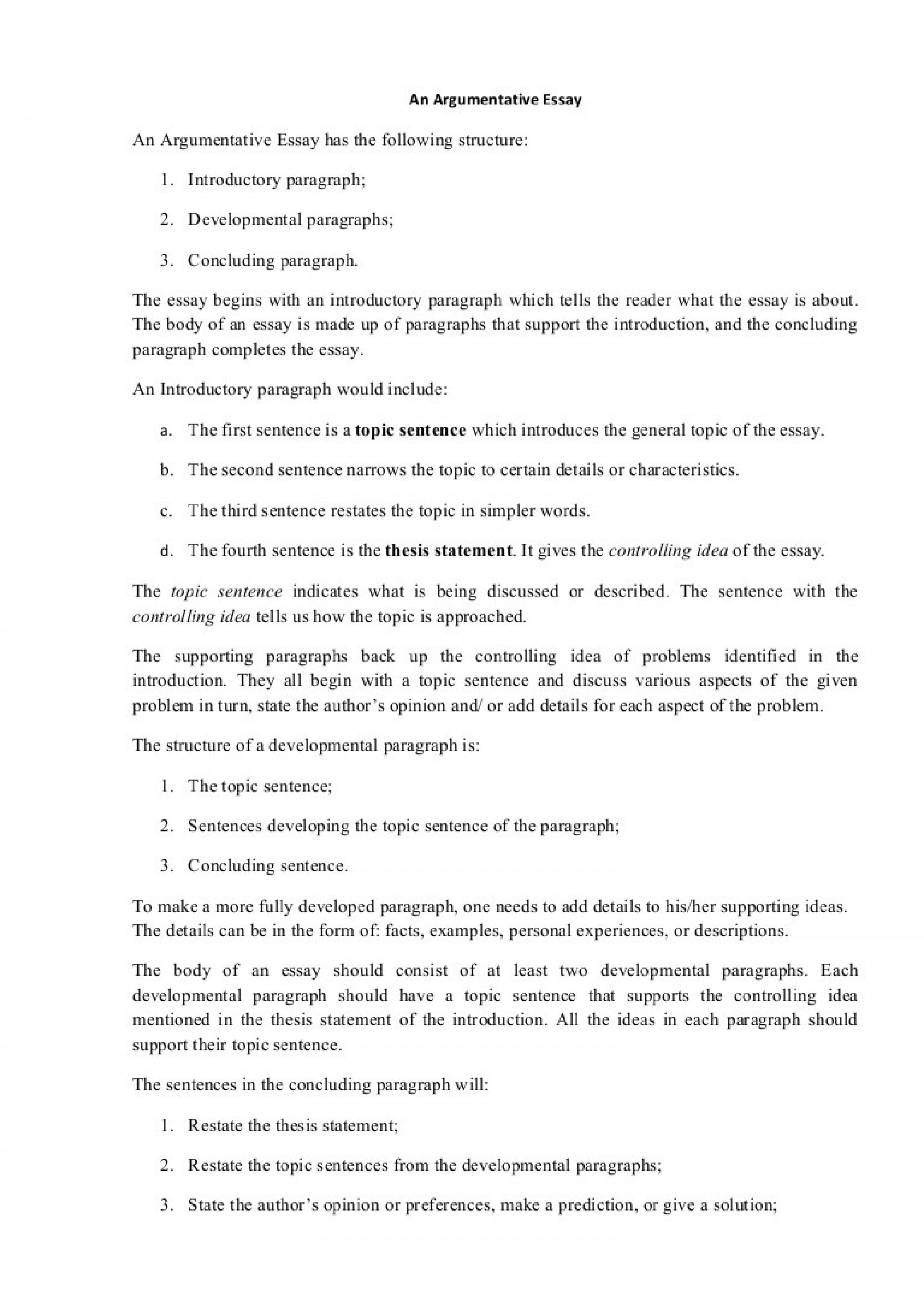 019 Intro Paragraph Outline Research Paper Argumentativeessaystructure Phpapp01 Thumbnail Best Introduction For 1920