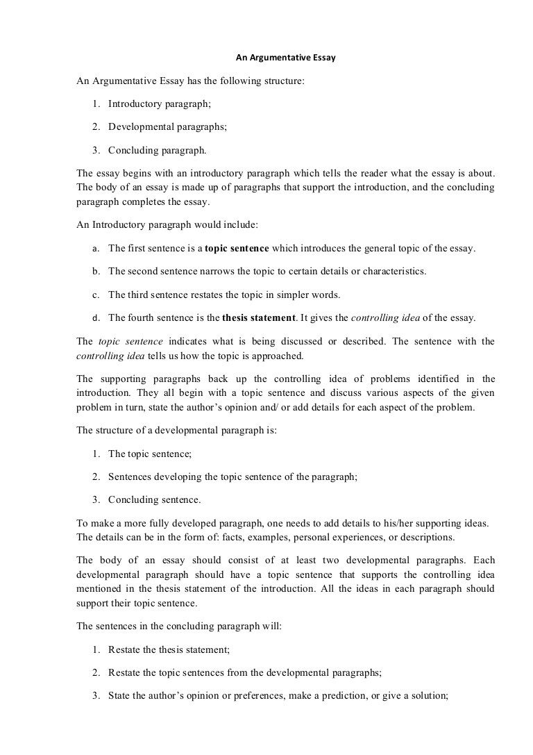 019 Intro Paragraph Outline Research Paper Argumentativeessaystructure Phpapp01 Thumbnail Best Introduction For Full