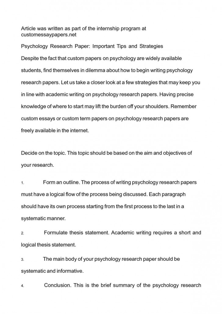 019 Psychology Research Paper Topics Striking For High School Students Reddit 728