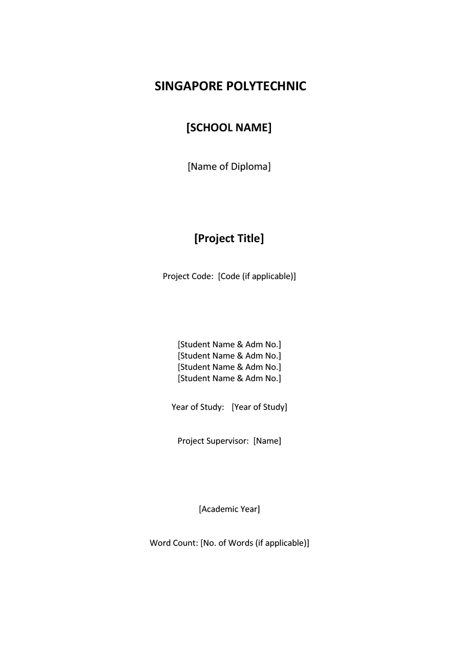 019 Research Paper Cover Page For Term Template Singular Title Full