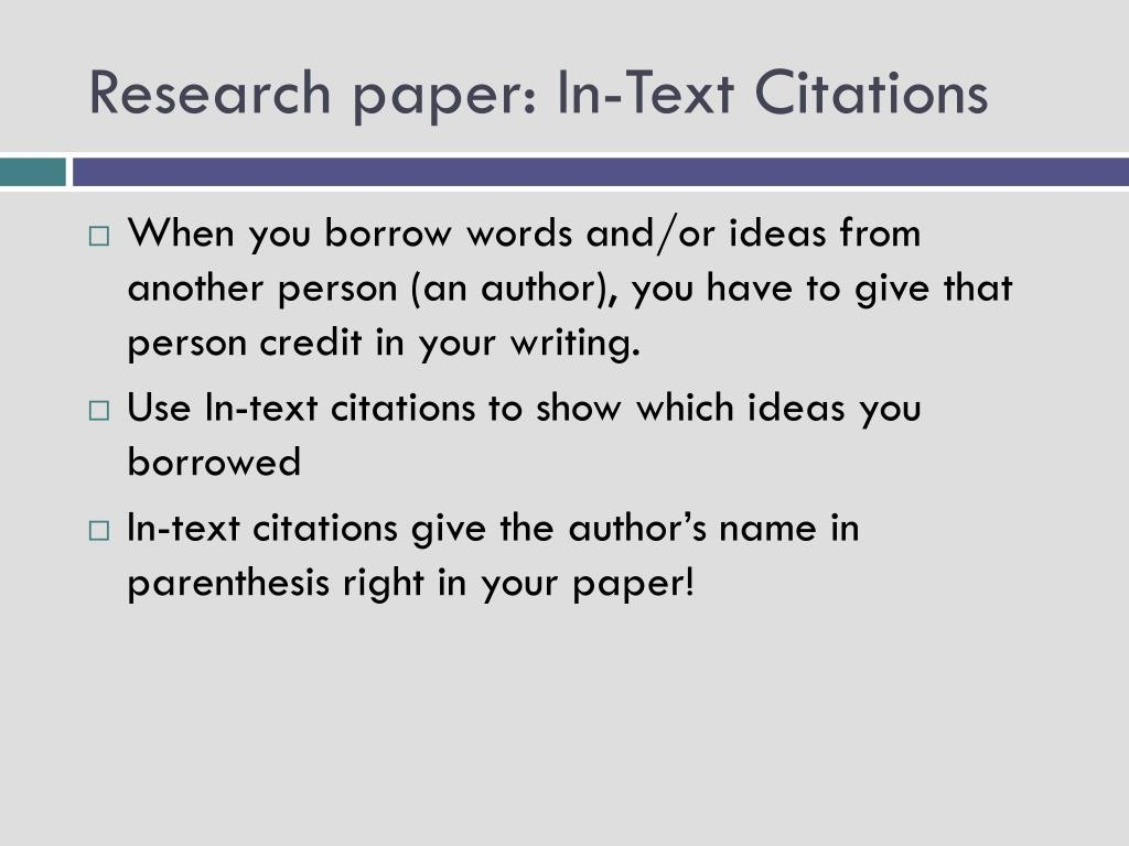 019 Research Paper In Text Citations L How To Prepare Unique Ppt Large