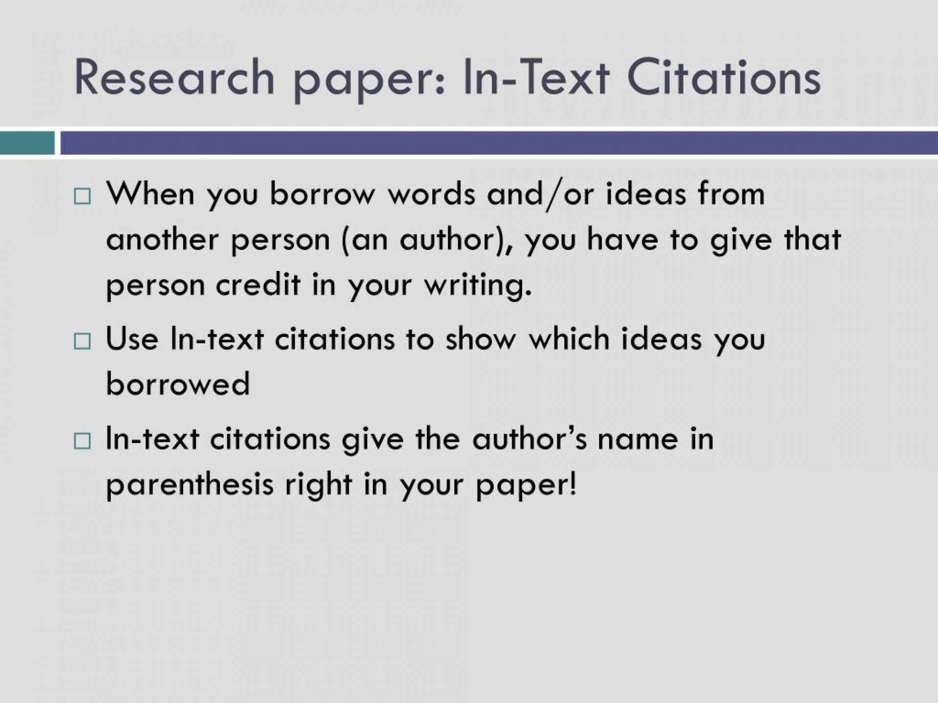 019 Research Paper In Text Citations L How To Prepare Unique Ppt 1920