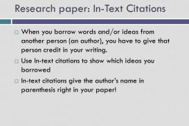 019 Research Paper In Text Citations L How To Prepare Unique Ppt