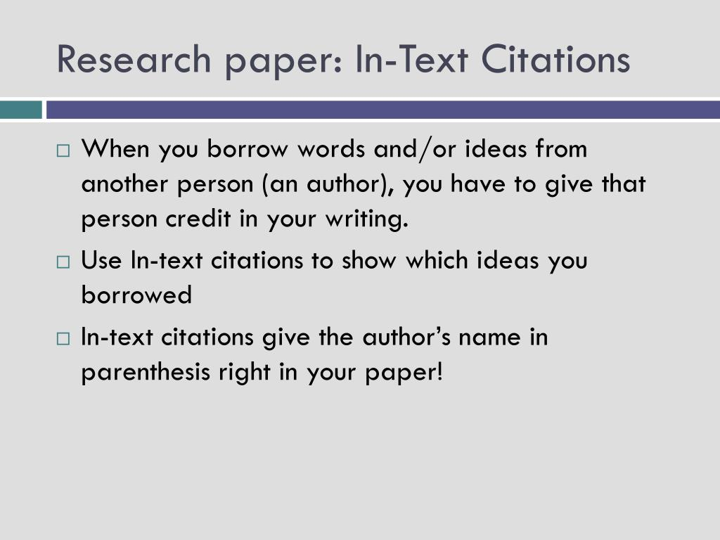 019 Research Paper In Text Citations L How To Prepare Unique Ppt Full