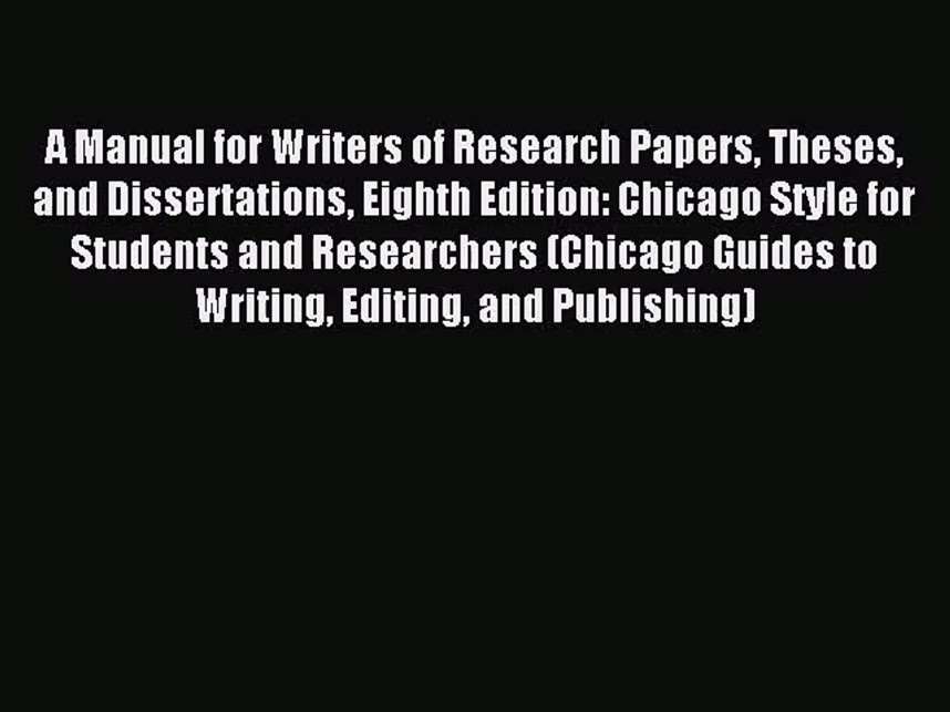 019 Research Paper Manual For Writers Of Papers Theses And Dissertations Eighth Edition X1080 Phenomenal A Pdf
