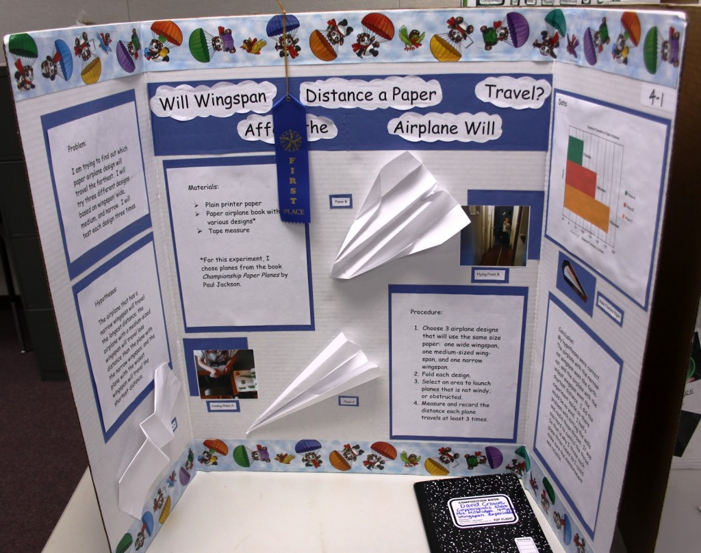 019 Research Paper Middle School Science Fair Template 1st Place Projects For 5th Graders Frightening Large